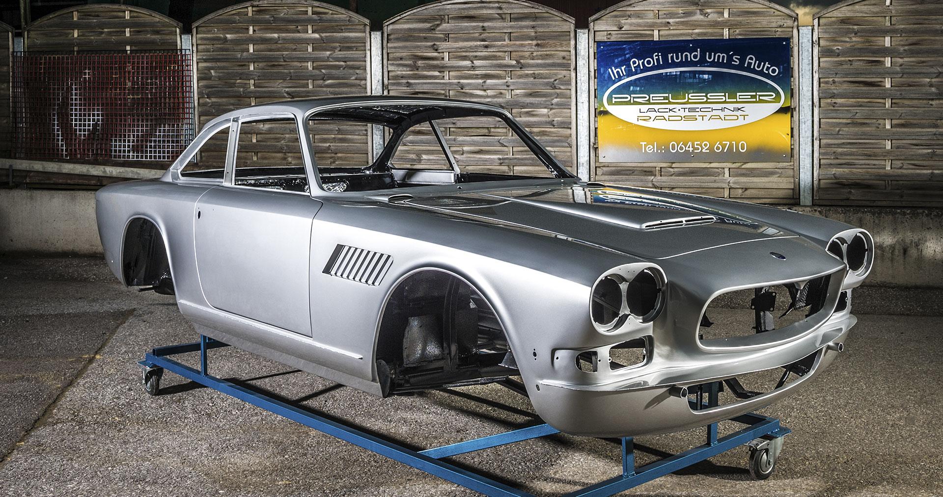 Maserati Sebring Series II, Oldtimer-Restauration im Kfz-Fachbetrieb Preussler in Radstadt, Österreich