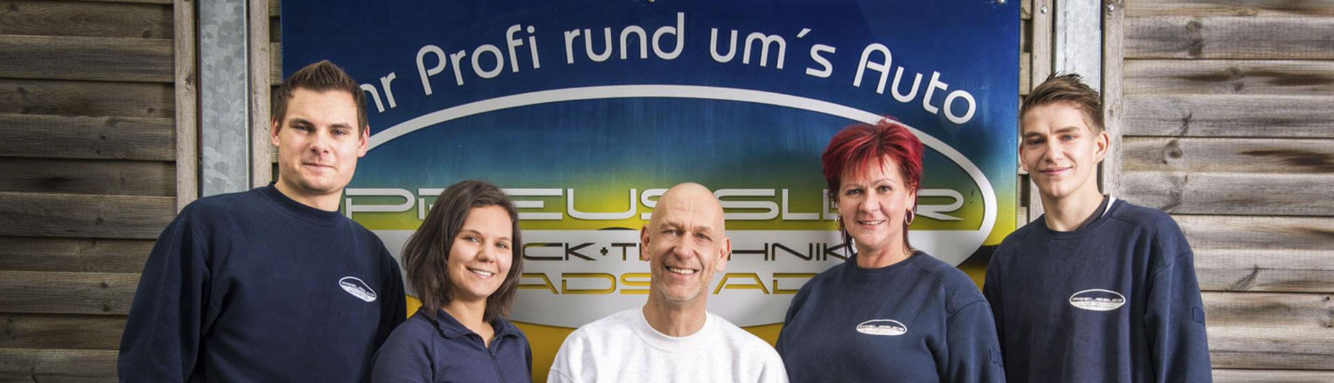 Kfz Fachbetrieb Preussler - Team & Hündin Bora