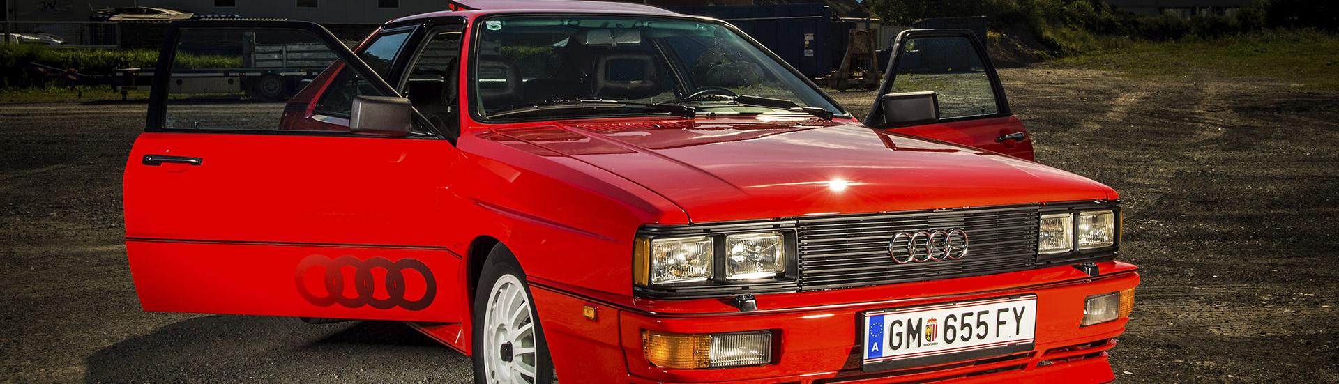 Audi Quattro Coupé, Urquattro, 1981, Oldtimer-Restauration im Kfz-Fachbetrieb Preussler in Radstadt, Österreich